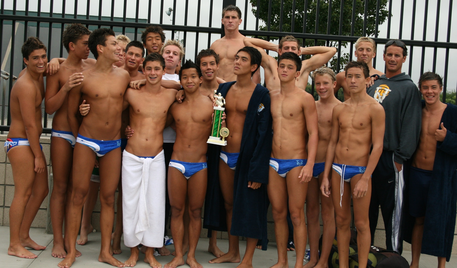 Team Bonner Chevrolet high school boys in speedos with boner Car Tuning
